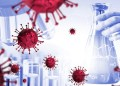 Coronavirus COVID-19 medical test vaccine research and development concept. Scientist in laboratory study and analyze scientific sample of Coronavirus antibody to produce drug treatment for COVID-19.