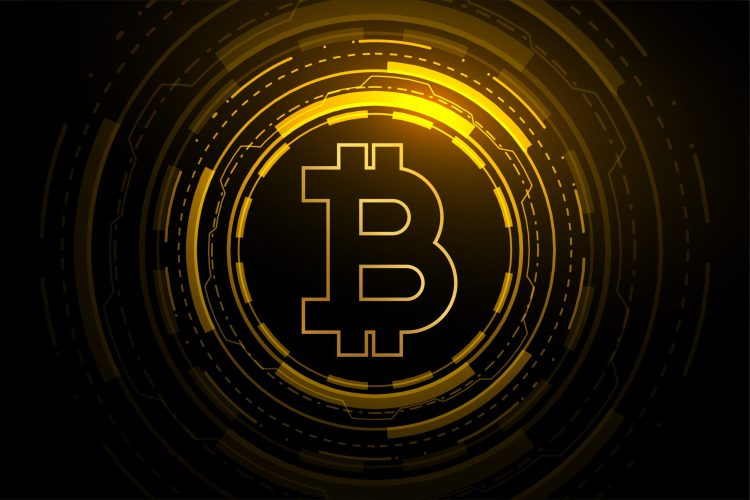 bitcoin technology crypto currency blockchain concept design