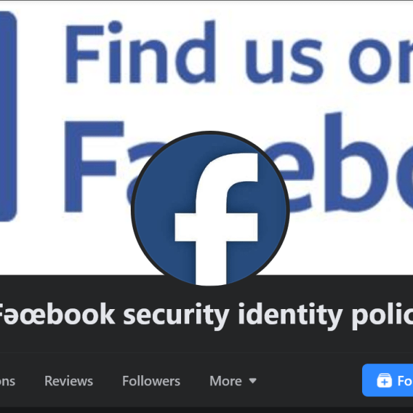 Beware of this 'Fǝœbook security' phishing