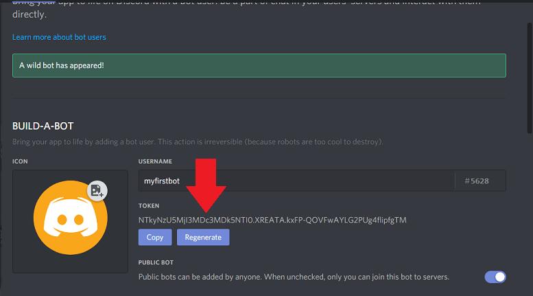 reveal token discord bot