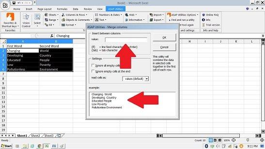 merge column data asap utilities