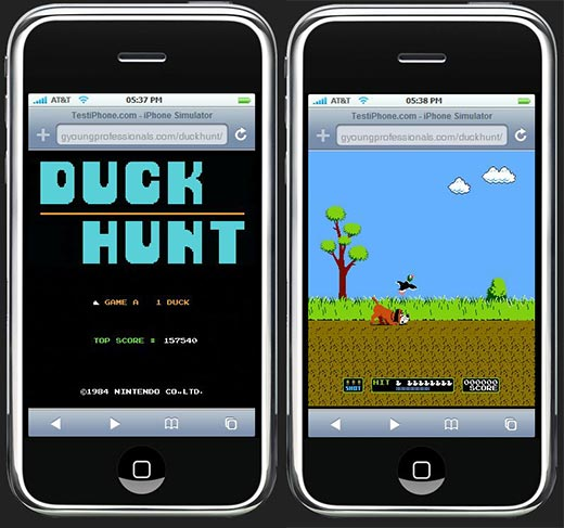 The Marriage of Duck Hunt & the iPhone