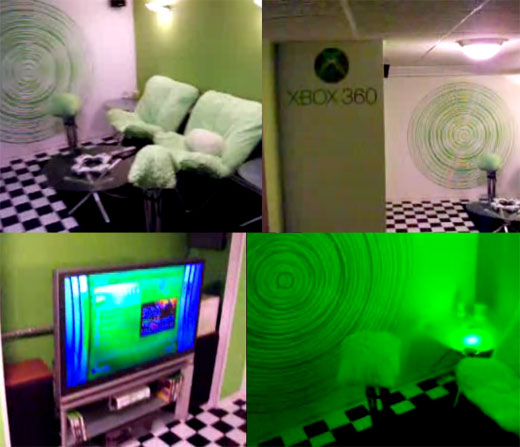 When it comes to escaping the real worl. Xbox 360 Room has Me Slightly Green With Envy - Technabob
