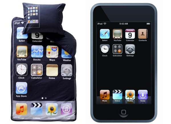 ipod touch apple bedding