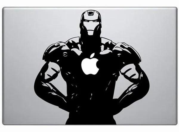 iron man decal vinyl custom macbook