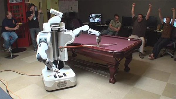 robot pool player hustle human pesky game
