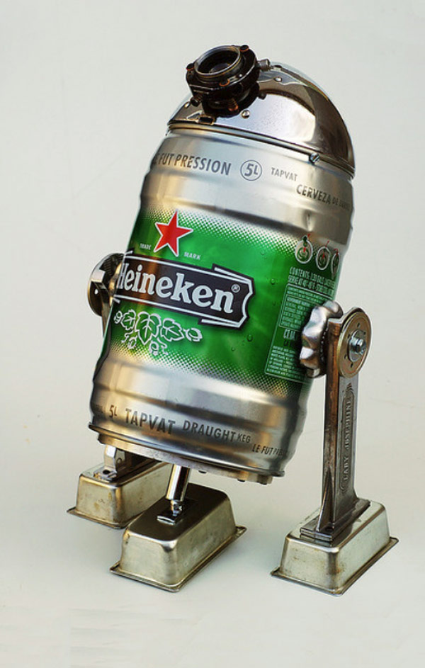 lockwasher beertood3 beertood2 BR2D2 BR2D3 sculptures junkbots