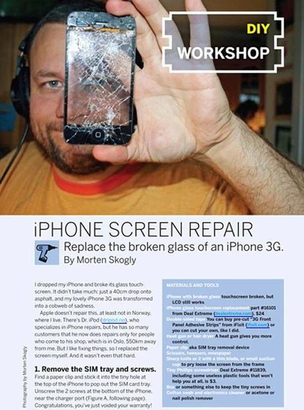 diy iphone screen repair make