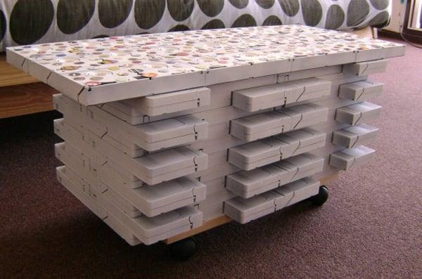 vhs coffee table hack diy recycle reuse