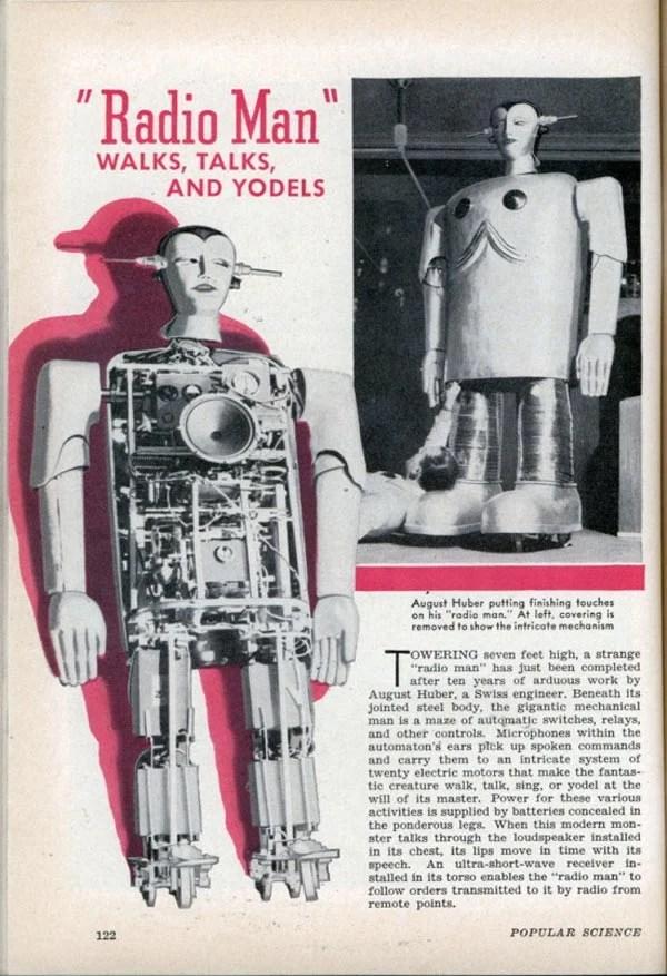 robot vintage 1939 radio man
