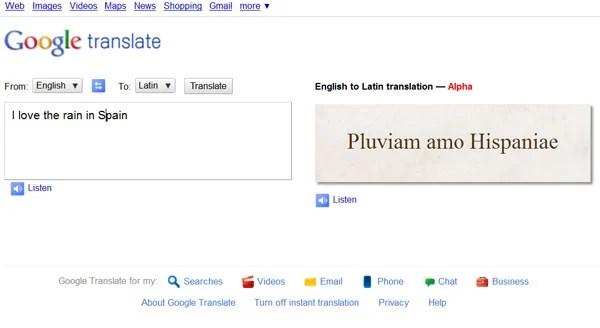 latin google translate fun swearing