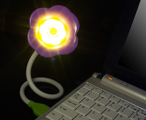 usb gadget flower power light aroma diffuser