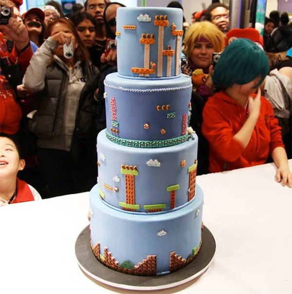 super mario bros cake shigeru miyamoto video games