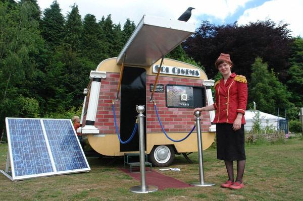 movie theater smallest world solar power