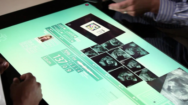 microsoft surface computing touchscreen