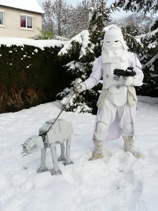 at-at star wars in training snow trooper hoth