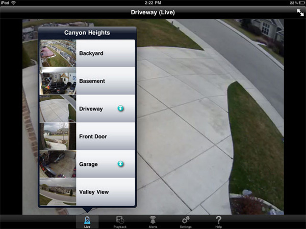 logitech alert app ipad iphone surveillance home security