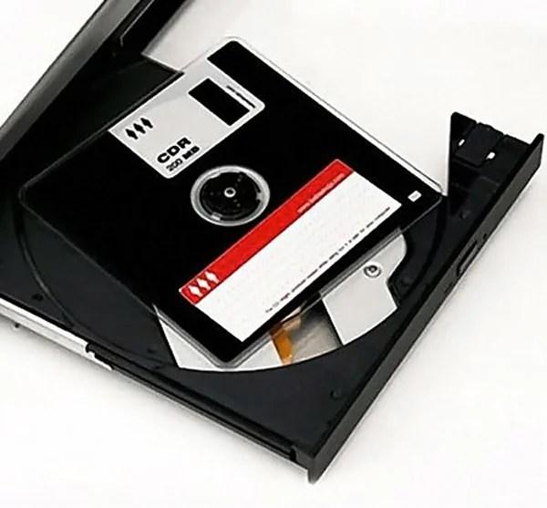 retro cdr floppy computer media storage optical