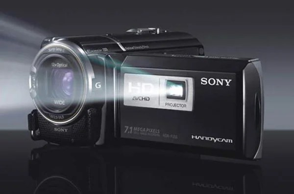 sony handycam hd camcorder video cam hdr-pj50 projector