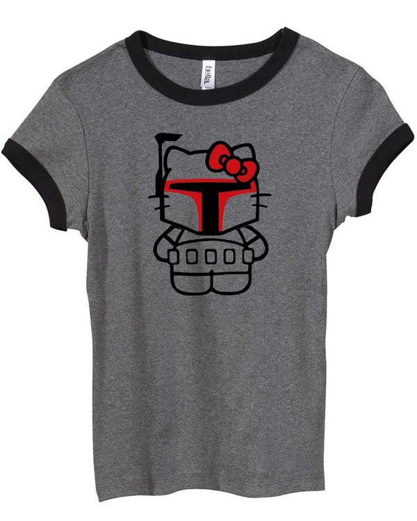 sandbox clothing hello kitty boba fett t-shirt star wars