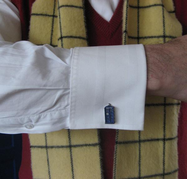 tardis cufflinks doctor who geek wear