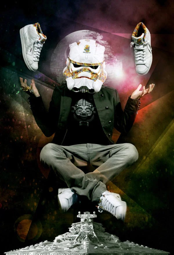 freehand profit star wars remix stormtrooper sneakers adidas helmet