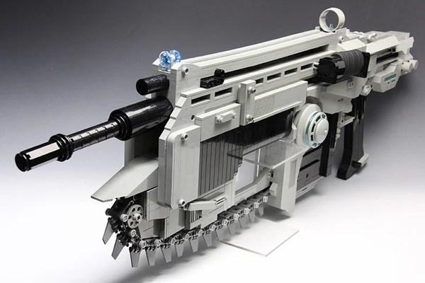 lego brick gears of war rubber band gun plum b