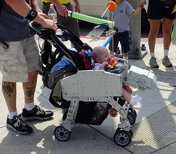 rick russo star wars imperial walker at-at stroller baby