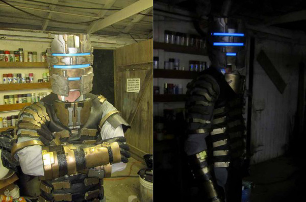 shawn thorsson dead space isaac clarke costume diy halloween cosplay