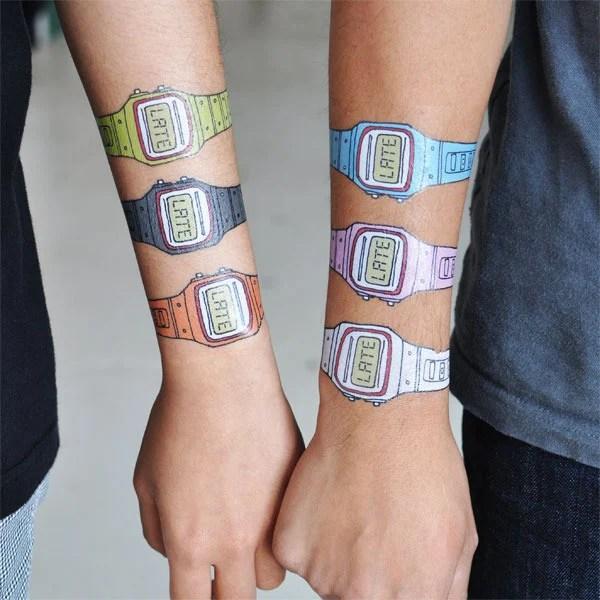 you're late tattly temporary watch tattoo swissmiss