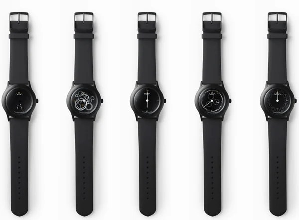 nendo dark noon watch