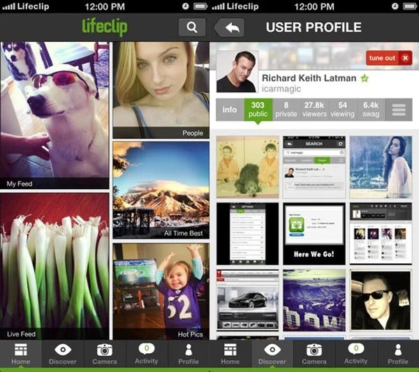 lifeclip ios app iphone photo
