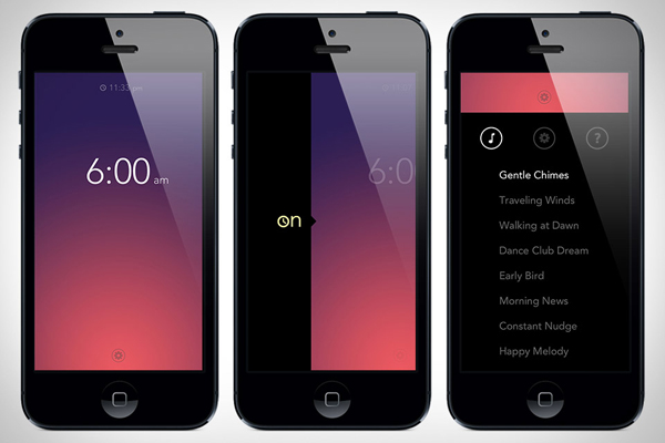 simple bots rise iphone alarm app screen