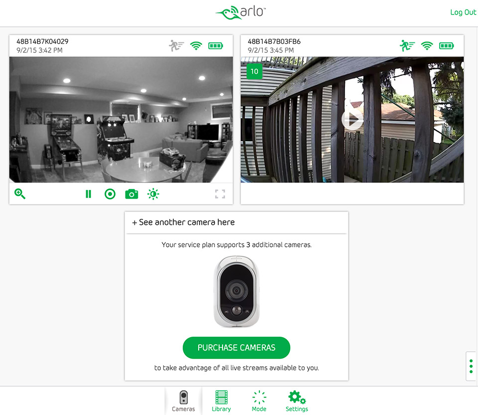 Two Camera Wireless Security System