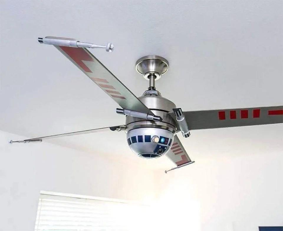 r2 d2 x wing ceiling fan use the downforce