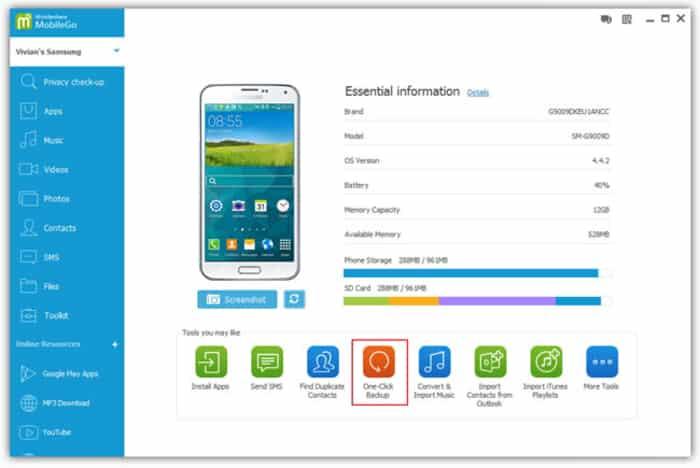 wondershare mobile go tool