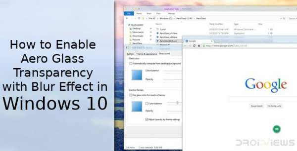 How to Enable Aero Glass Transparency in Windows 10 with ...