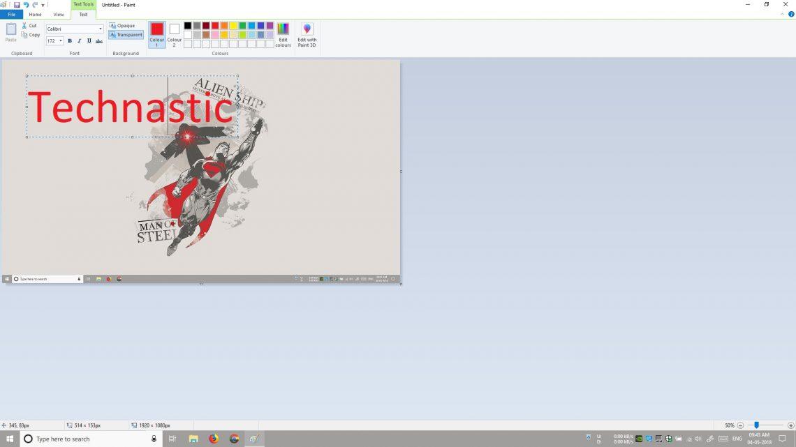 take screenshots using paint app