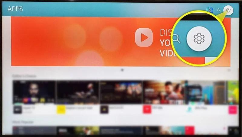 настройки приложения на samsung tv