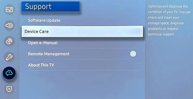 уход за устройством samsung tv 2020