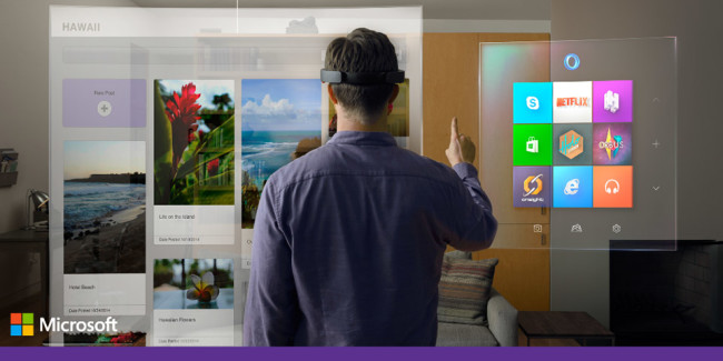 마이크로소프트의 증강 현실, Windows Holographic과 HoloLens