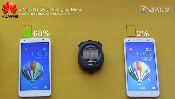 하웨이(Huawei), 10분에 충전 가능한 리튬 배터리 소개