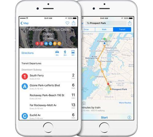 애플 지도 iOS에서 구글 지도에 완승