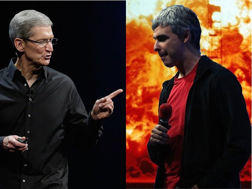 구글의 핵심 사업을 공격하는 애플