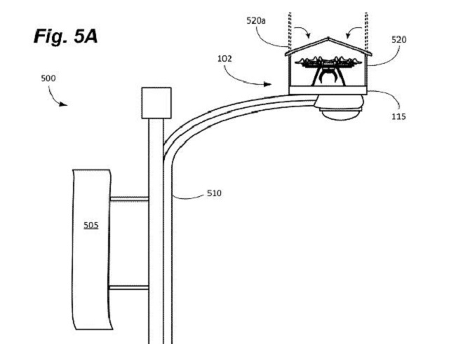Amazon invents birdhouse-style drone stations for streetlights
