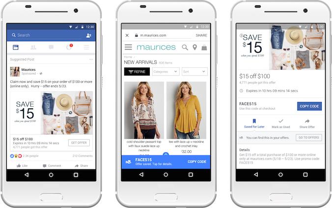페이스북, 모바일용 Offers 출시