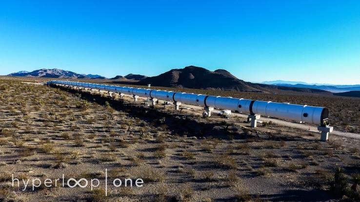 하이퍼루프 원, 네바다 사막에 시범 레일 건설