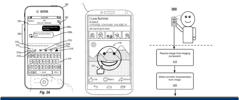 감정 기술과 관련한 페이스북의 새로운 특허