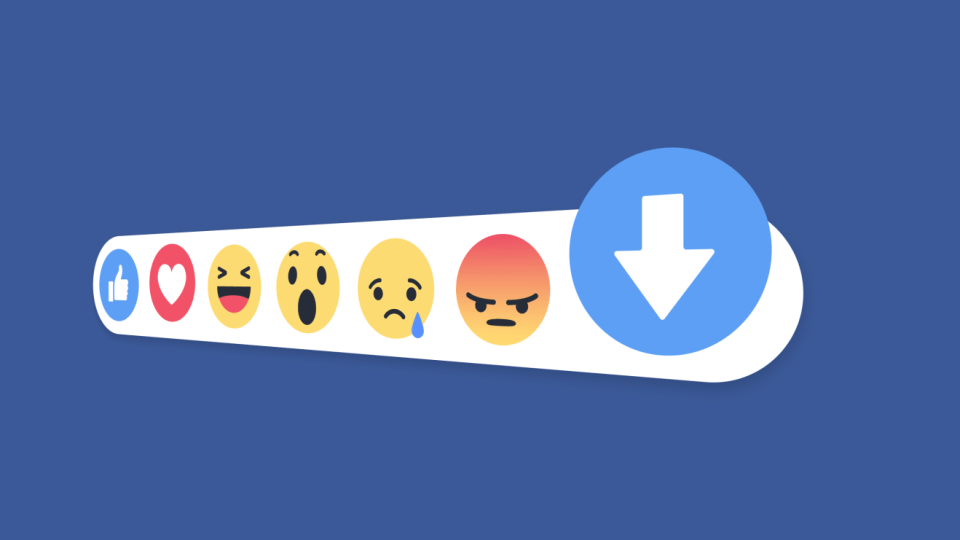 '싫어요' 버튼을 테스트중인 페이스북