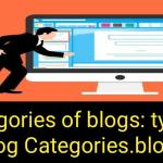 Categories of blogs: types of blog categories. blogs